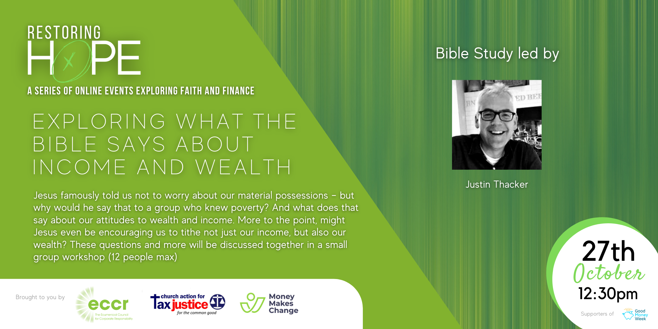 Restoring Hope | What does the Bible say about income and wealth? (Tuesday)