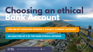 Image shows front cover of a resource. Text reads: Choosing an ethical Bank account